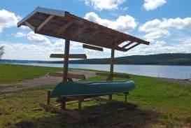 lake front recreational area new canoe/kayak storage rack