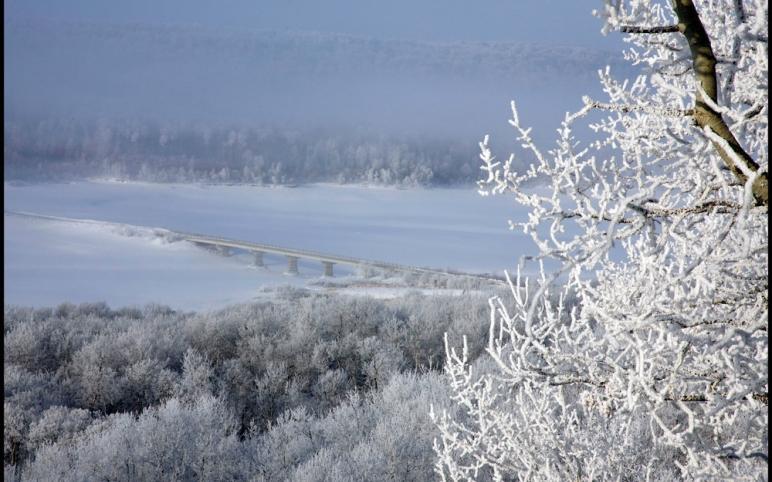 winter view of Togo bridge from Sun Hills lots
